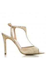 Sandale cu toc CONDUR by alexandru aurii cu imprimeu, din piele naturala