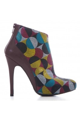 Botine CONDUR by alexandru bordo cu multicolor