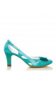 Sandale cu toc CONDUR by alexandru lac turcoaz