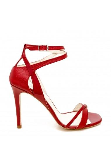 Sandale cu toc CONDUR by alexandru 1505 tejus rosu