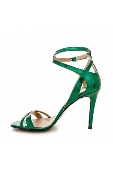 Sandale cu toc CONDUR by alexandru 1505 spechio verde