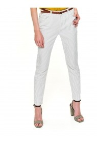 Pantaloni drepti Top Secret TOP-SSP3303BI Alb