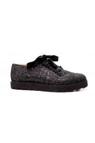 Pantofi Thea Visconti sport din glitter Negru