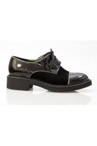 Pantofi Thea Visconti cu siret Negri