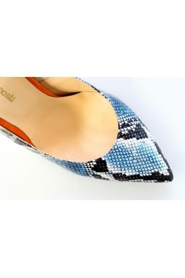Pantofi-sandale Thea Visconti imitatie sarpe albastru