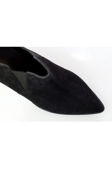 Botine Thea Visconti din negru velur cu elastic