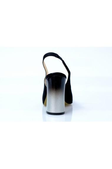 Sandale Thea Visconti 988 negru-velur cu toc in degrade