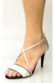 Sandale Thea Visconti Bonnie - argintiu cu keder negru