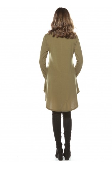 Rochie de zi Roserry din jerseu cu guler