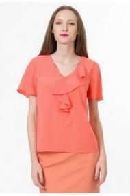 Bluza Sense cu volan Adine orange