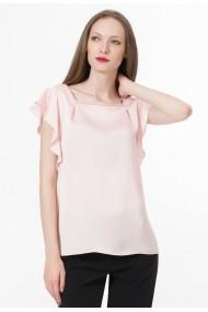 Bluza Sense cu volane Dominique roz