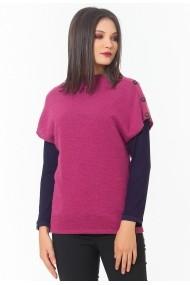 Vesta Sense tricotata oversized Pan roz