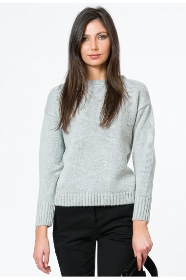 Pulover Sense tricotat Greta gri