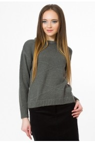 Pulover Sense tricotat Greta antracit