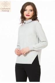 Pulover Sense tricotat Missy gri