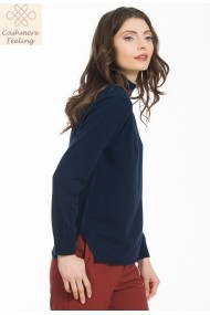 Pulover Sense tricotat Missy marin