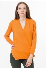 Cardigan Sense lana Mabel orange