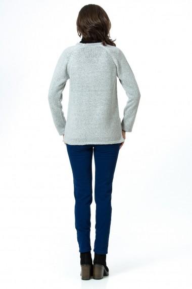 Cardigan Sense tricotat Simplicity gri