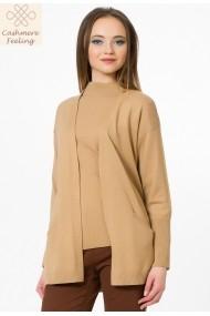 Cardigan Sense tricotat Britt camel