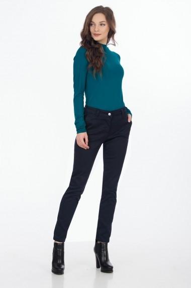 Pantaloni drepti Sense Risty Bleumarin