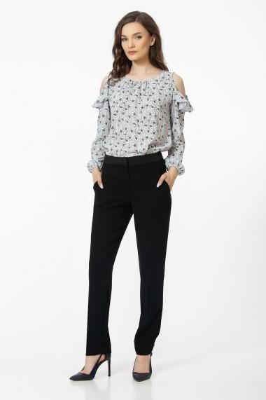 Pantaloni drepti Sense Giulia negru