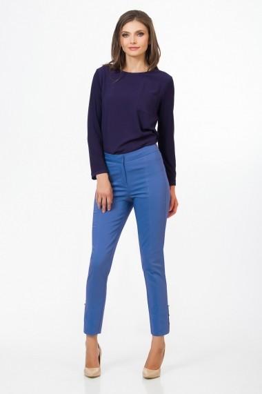 Pantaloni drepti Sense CA4894 Alisia albastru