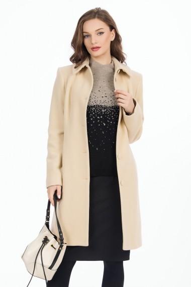 Palton Sense lana Camille crem