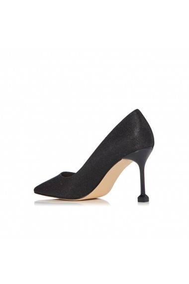 Pantofi NISSA stiletto cu finisaj stralucitor Negru