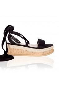 Sandale cu toc NISSA cu platforma nsEXSA6972 Negru