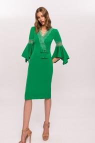 Rochie NISSA de zi cu detalii deosebite Verde