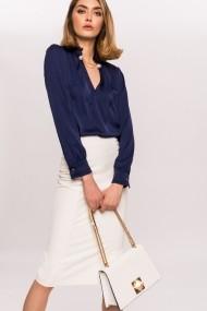 Top NISSA feminin cu lant la baza gatului Bleumarin