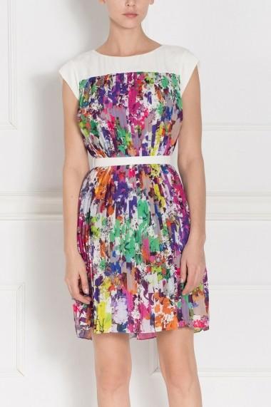 Rochie NISSA de zi RZ7743 multicolora