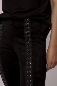 Pantaloni skinny NISSA skinny cu aplicatii metalice Negru