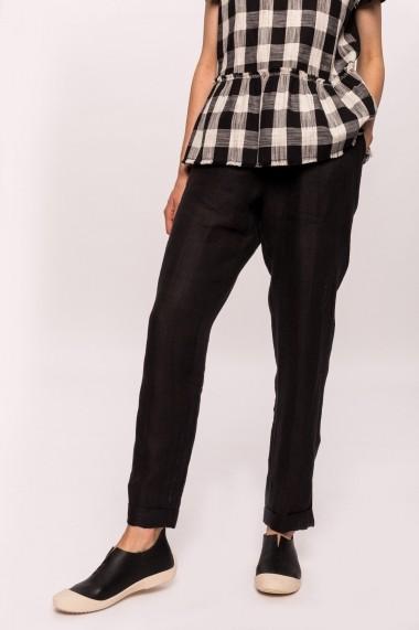 Pantaloni largi NISSA din in Negru