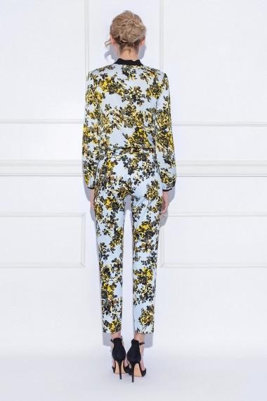 Pantaloni drepti drepti NISSA casual cu imprimeu floral Imprimeu