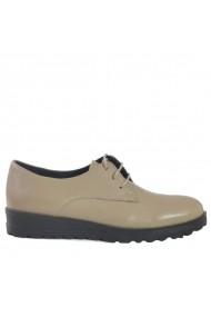 Pantofi din piele Mopiel Andra Bej