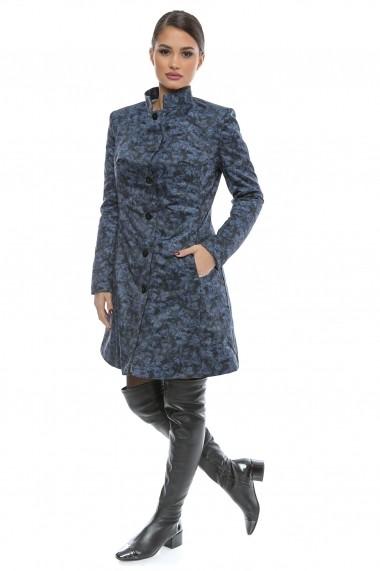 Pardesiu gros impermeabil BlueHeart Season - Cardinale Rosa albastru, negru