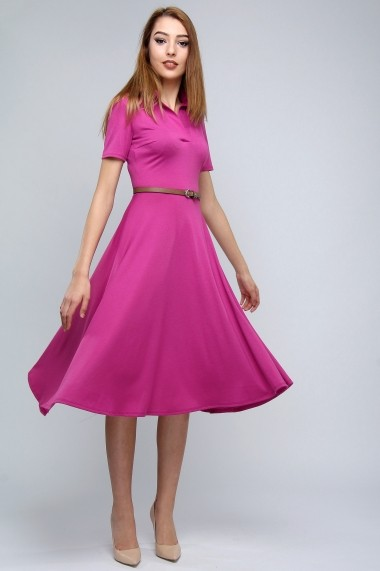 Rochie polo din bumbac Fucsia Rules - Sweet Rose of Mine fucsia, ciclam DUO-SR001FR-1