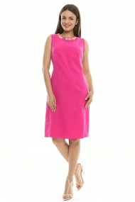 Rochie dreapta din in - Sweet Framboise - Sweet Rose of Mine ciclam