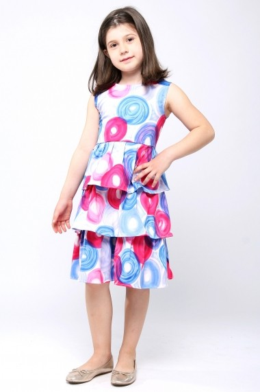 Rochita vesela din bumbac - Bubble Girl - Little Rose multicolor