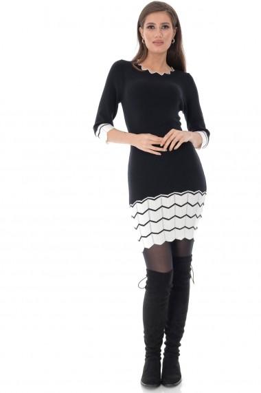 Rochie scurta Roh Boutique DR4022 negru