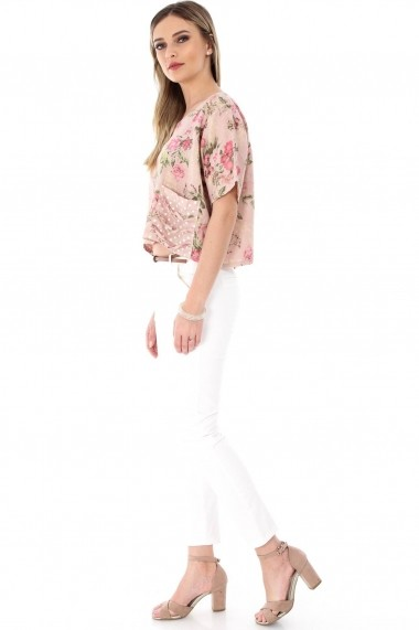 Bluza Roh Boutique roz pal, ROH, scurta - BR1789 roz One Size