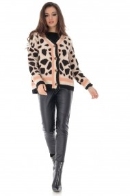 Cardigan Roh Boutique BR2239 Animal Print