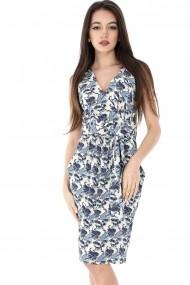 Rochie de zi Roh Boutique cu buzunare - CLD917 crem|Albastra