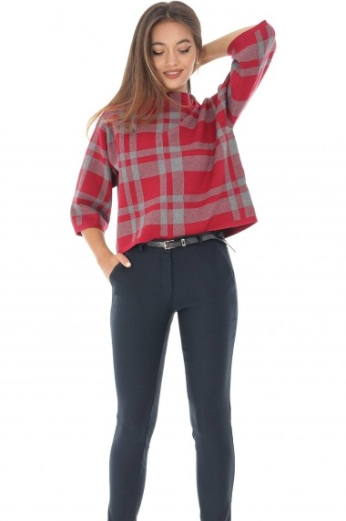 Pantaloni skinny Roh Boutique ROH - TR332 bleumarin