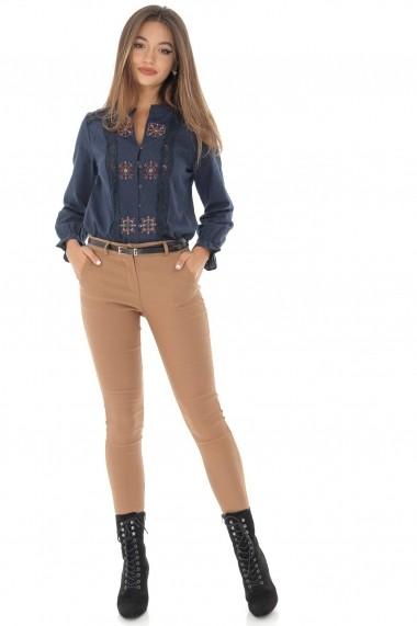 Pantaloni skinny Roh Boutique TR331 bej