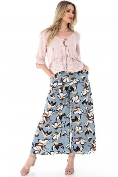 Pantaloni largi Roh Boutique - TR225 turcoaz|multicolor
