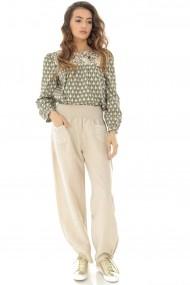 Pantaloni largi Roh Boutique TR314 Bej