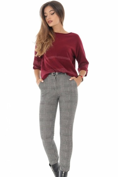 Pantaloni drepti Roh Boutique ROH - TR333 carouri