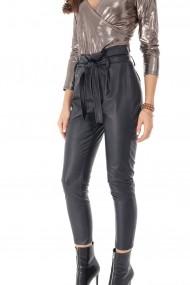 Pantaloni drepti Roh Boutique TR348 Negru
